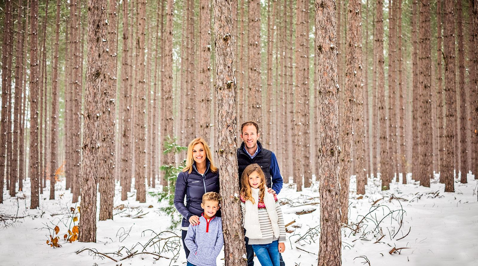 A Winter Family Portrait Session