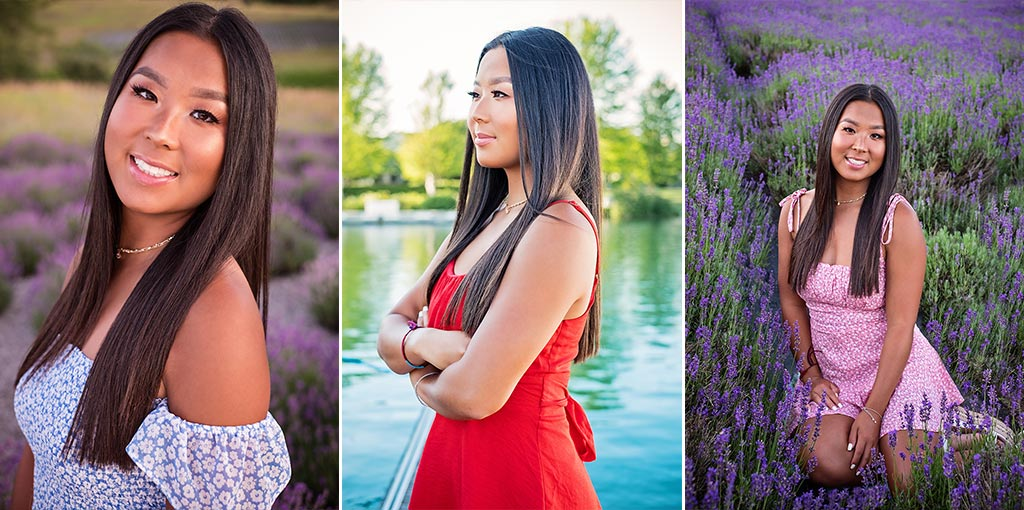 Senior Portraits at Lavender Hill Farm and Bay Harbor